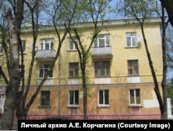 Дом, в котором семья Евгения Корчагина жила в двухкомнатной квартире в Сарове