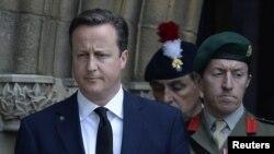 Премьер-министр Великобритании Дэвид Кэмерон. Бэри, 12 июля 2013 года.