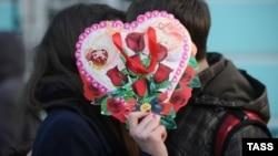 Moskvada Valentin günü. 14 fevral 2013