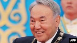 Президент Казахстана Нурсултан Назарбаев на своей инаугурации. Астана, 29 апреля 2015 года.