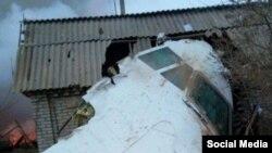 Фото упавшего самолета.