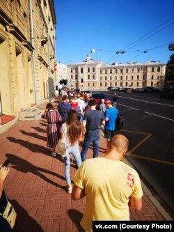 Очередь за бюллетенями в Санкт-Петербурге