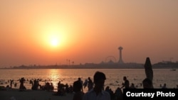 Заход сонца над Абу-Дабі