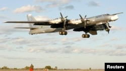 A Russian TU-95 bomber, or Bear.