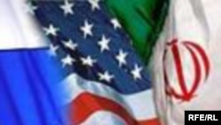 Iran -- USA and Iran Flags, 12Mar2009