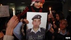 تصویری از معاذ الکساسبه، خلبان اردنی