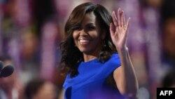 Мишель Обама, АҚШ президенті Барак Обаманың зайыбы. Филадельфия, 25 шілде 2016 жыл.