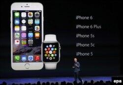 Тим Кук представляет шестую модель iPhone, 9 сентября 2014 года