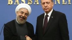 Турскиот премиер Реџеп Таип Ердоган и иранскиот претседател Хасан Рохани.