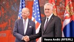 Вице-президент США Джозеф Байден и президент Сербии Томислав Николич