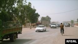 شارع في مدينة المقدادية بمحافظة ديالى
