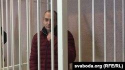 Блогер Александр Лапшин в суде в Минске, где решается вопрос о его экстрадиции в Азербайджан. 26 января 2017 года.