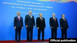 Ղազախստան - Եվրասիական տնտեսական բարձրագույն խորհրդի՝ մայիսի 29-ին Աստանայում կայացած նիստի մասնակիցները