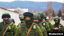 Российские военные в Крыму в марте 2014 года