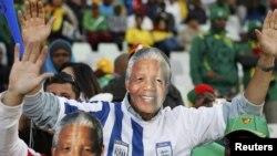Navijači sa maskama Nelsona Mandele, Svjetsko prvenstvo u fudbalu, juni 2010
