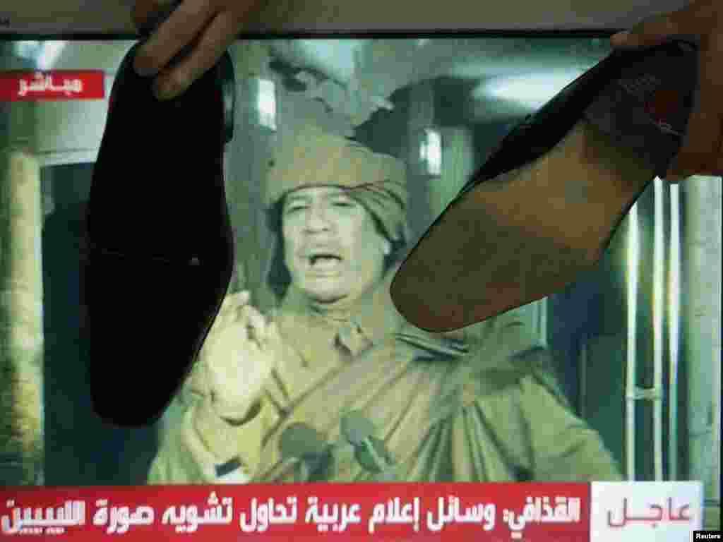 واکنش مخالفان معمر قذافی در اردن به سخنرانی او