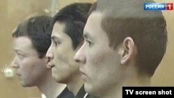 Граждане Узбекистана, осужденные в России за связи с ИГИЛ. Скриншот с сайта российского канала Россия-1.
