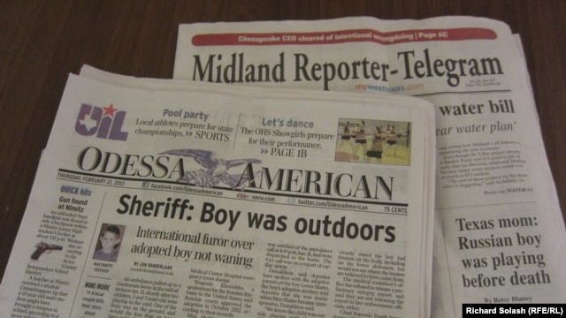 Local Texas newspapers describe furor over death of Russian adoptee Max Shatto
