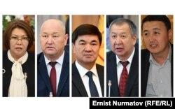 Новый премьер-министр КР и вице-премьер-министры.