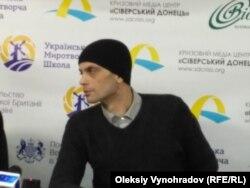 Теймураз Нихотин на пресс-конференции в Северодонецке