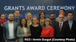 Dobitnici grantova i službenici RCC-a, Sarajevo