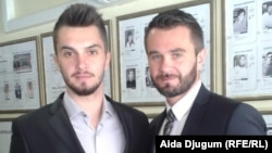 Meris Muhović (lijevo), vicešampion Evrope, i Denis Muhović, potpredsjednik Karate saveza BiH i reprezentativac u karateu, 10. maj 2016.