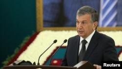 Премьер-министр, врио президента Узбекистана Шавкат Мирзияев.
