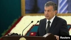 Acting Uzbek President Shavkat Mirziyaev