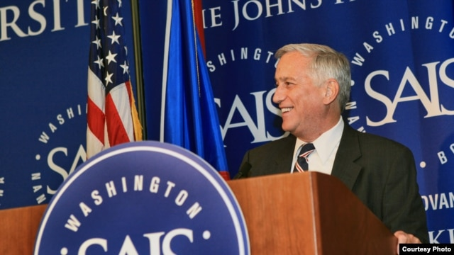 BBG Chairman Walter Isaacson speaks at celebrations marking the 60th anniversary of RFE's broadcasts to Czechoslovakia. Photo by Lillis Photography