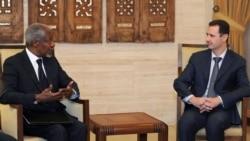БҰҰ мен Араб лигасының Сирия бойынша өкілі Кофи Аннан мен президент Башар әл-Асадтың кездесуі. Дамаск, 10 наурыз 2012 жыл.