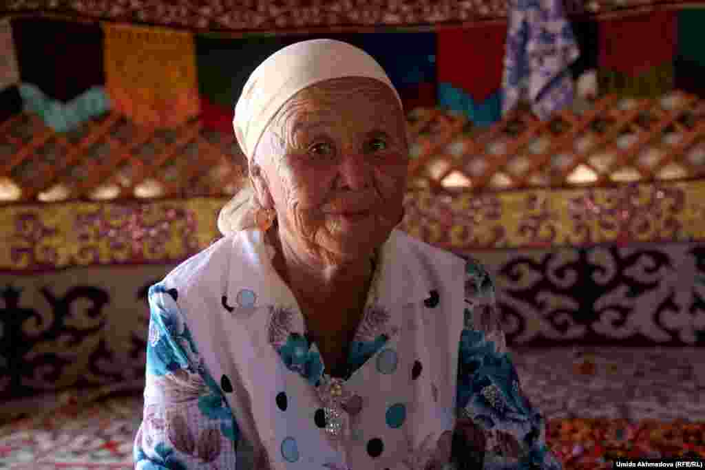 Astara, 69, has nine children, 23 grandchildren, and eight great-grandchildren. She plans to stay in the yurt until the end of October.