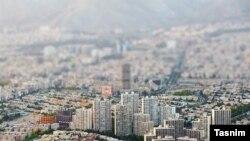 تصویری هوایی از تهران