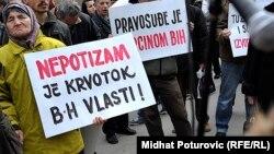 Građanski protesti u BiH, ilustrativna fotografija