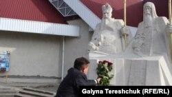 Пам'ятник Андрею і Климентію Шептицьким у родинному селі Прилбичі