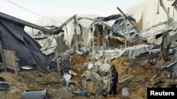 Разрушенный израильской армией туннель на юге сектора Газа, по которому осуществлялась контрабанда