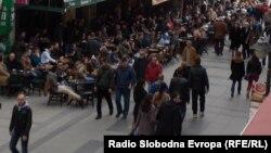 Архивска фотографија: Широк Сокак во Битола.