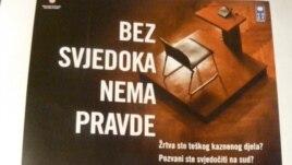 """Plakat projekta """"Bez svjedoka nema pravde"""""""