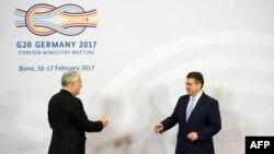 Energična diskusija o Siriji: Zigmar Gabrijel i Reks Tilerson na samitu G20 u Bonu