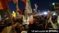 Pamje nga protestat e mbrëmshme në Bejrut për shkak të krizës së mbeturinave dhe ryshfetit në qeveri