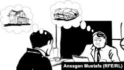 """Карикатура """"Тендер"""". Автор - блогер Анса Мустафа."""