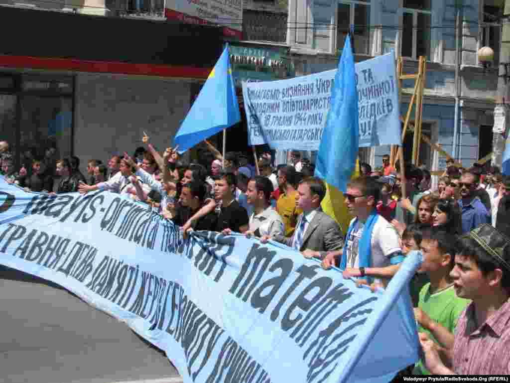 На жалобній акції присутні керівники Меджлісу кримськотатарського народу.