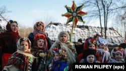 Архівне фото. Традиційне святкування Різдва, Музей у Пирогові. Січень 2015 року.