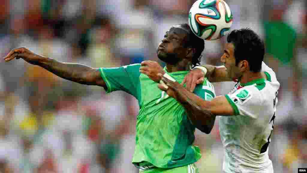Иран мен Нигерия құрамалары арасындағы матчта есеп ашылған жоқ. Куритиба, 16 маусым 2014 жыл.