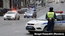 Илустрација - Полиција во Москва.