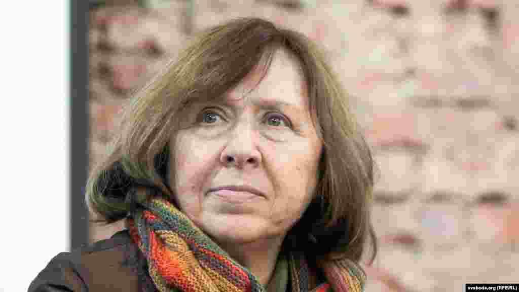 Светлана Алексиевич, нобелевский лаурет 2015 года.