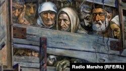 В 1944 году за три дня были выселены в Азию и Сибирь два народа, обвиненные в помощи и сочувствии фашистской Германии. Около половины населения погибло в пути и в местах высылки от голода, холода и лишений