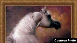 لوحة من أعمال الفنان علي الطائي