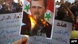 Вчерашните антивладини протести во Хомс