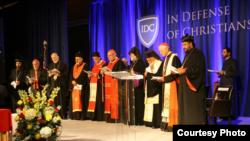 مشاركون في مؤتمر الدفاع عن المسيحيين في واشنطن