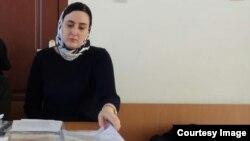 Лиана Сосуркаева на одном из судебных заседаний